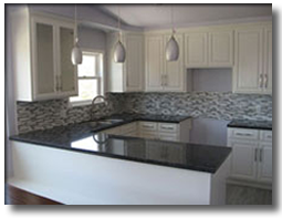 after remoddel kitchens with white cabinets and blue walls34 with